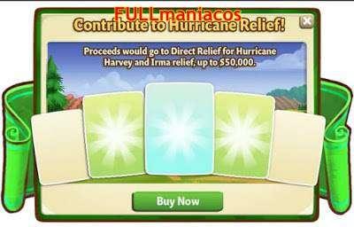 Farmville 2 Evento Recoleccion de ayuda por el huracan Irma