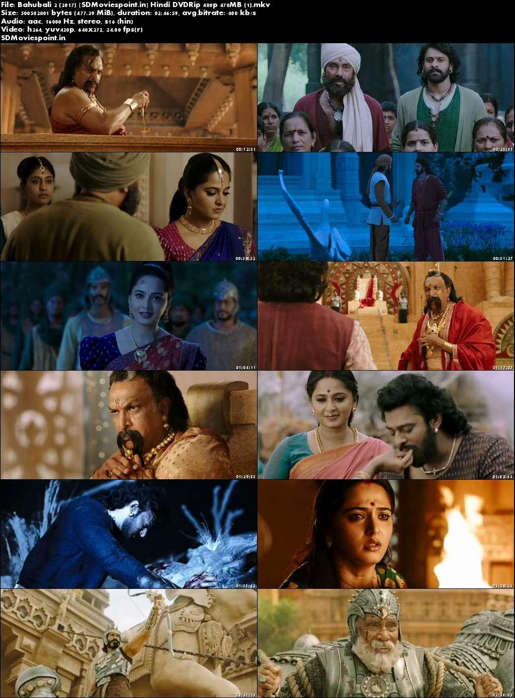 Screen Shots Baahubali 2 (2017) Full HD Movie Download Dual Audio Hindi Free 400MB