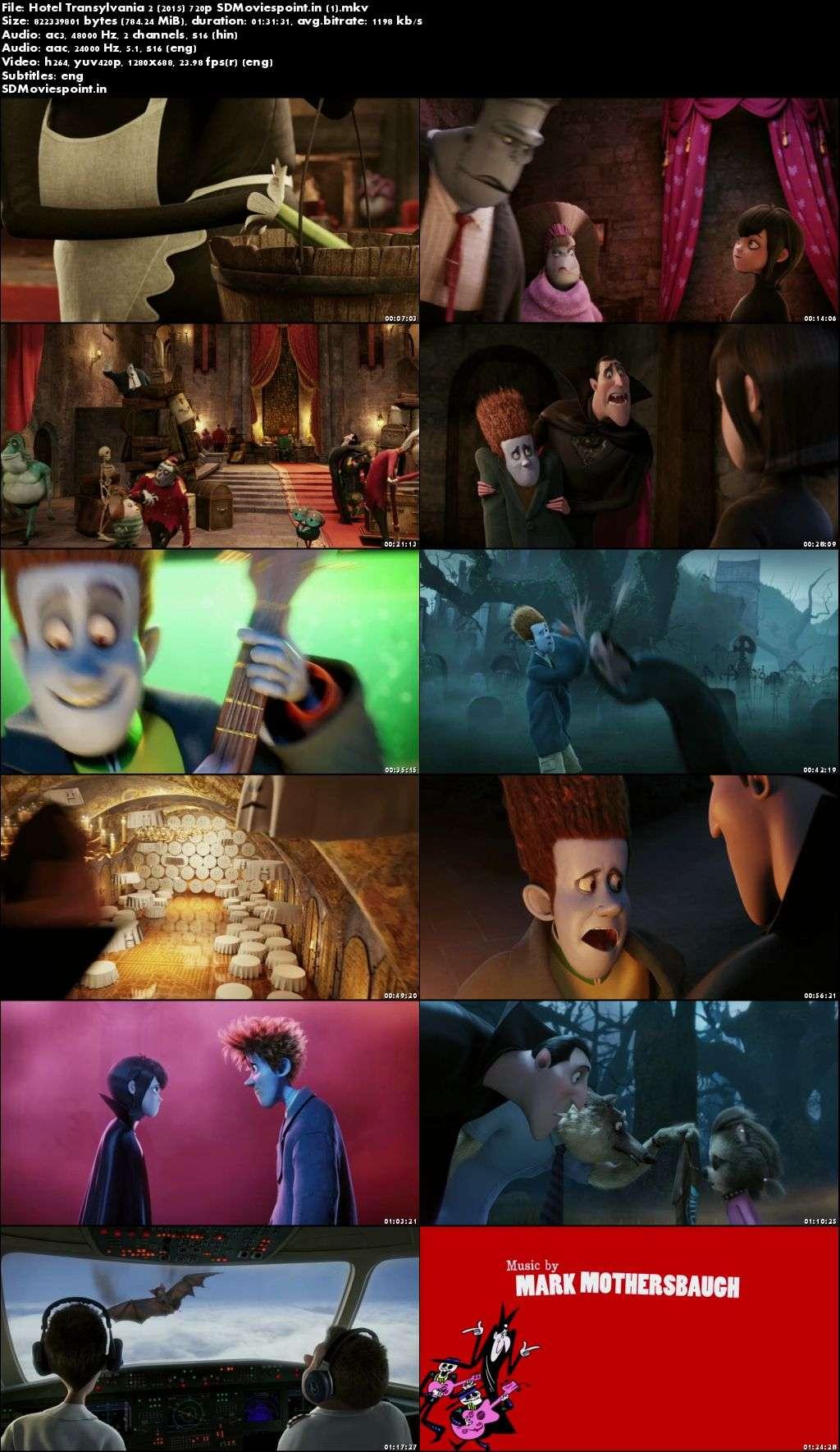 Screen Shots Hotel Transylvania 2 2015 Full HD Movie Download Dual Audio Free