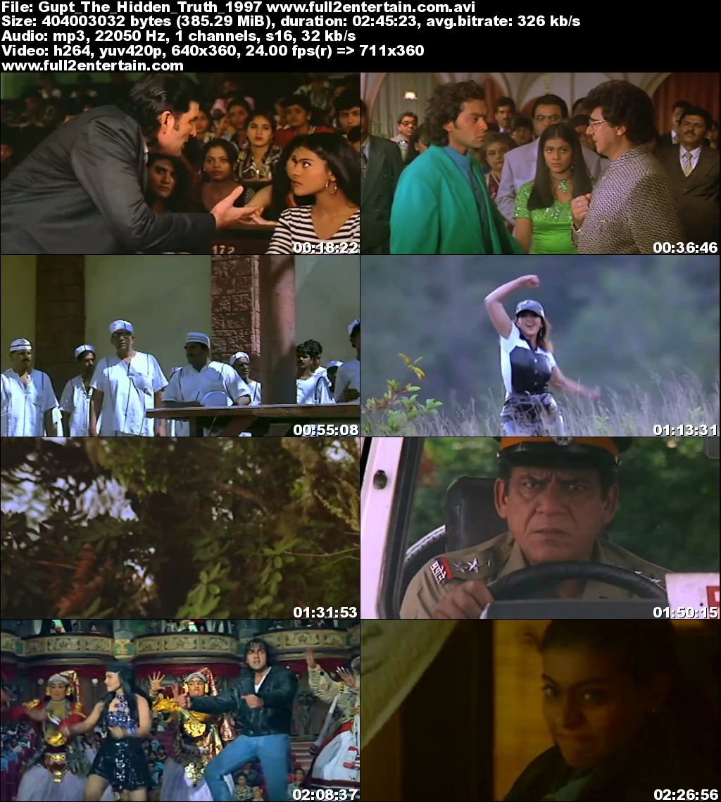 Gupt: The Hidden Truth 1997 Full Movie Download Free in Dvdrip 480p