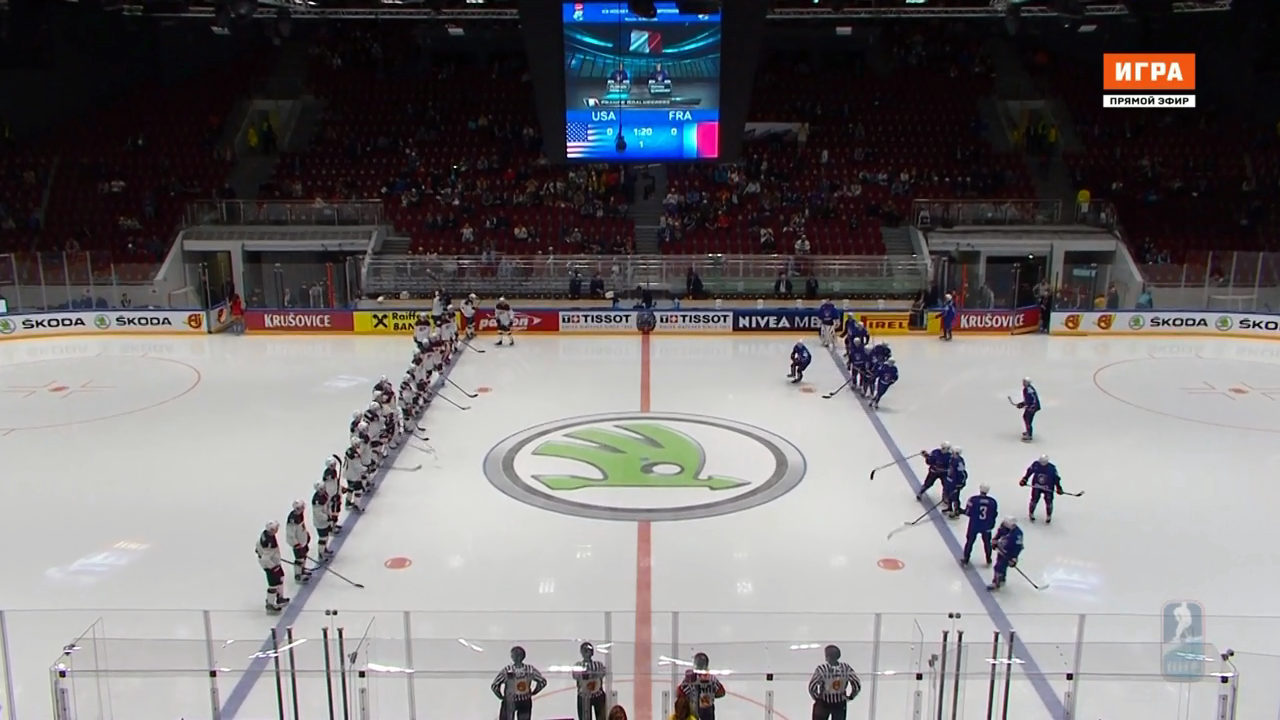 Хоккей. Чемпионат мира 2016. Группа B. 4 тур. США - Франция [12.05] | HDTVRip 720p | 50fps