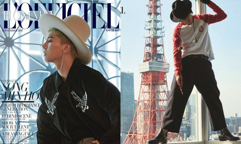 WINNER's Song Min Ho demonstrates his unique charisma in Tokyo for 'L'Officiel Hommes'