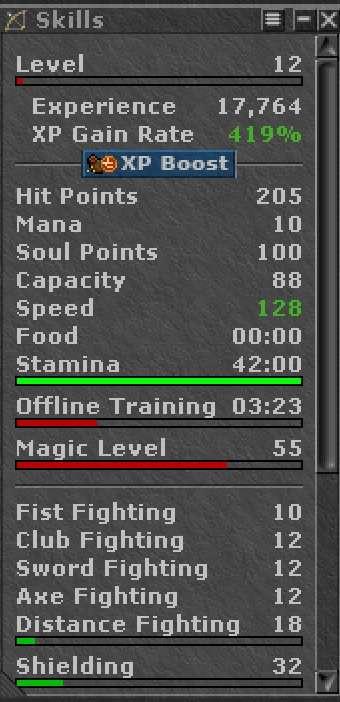 Skills Sorcerer Level 12