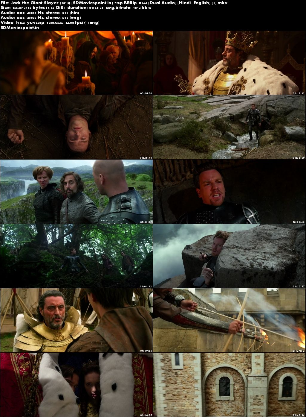 Screen Shots Jack The Giant Slayer (2013) Full HD Movie Download In Hindi 720p