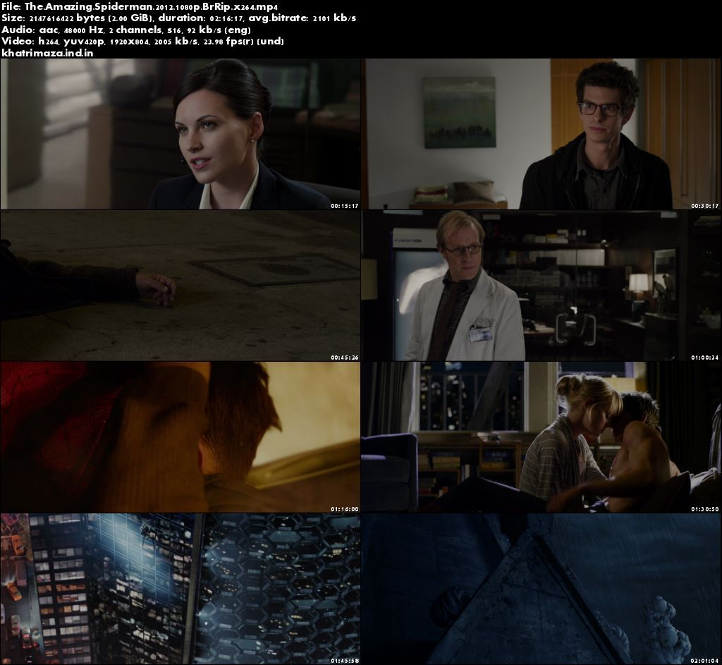 The Amazing Spider-Man 2012 Hollywood Movie Download in 1080p Bluray