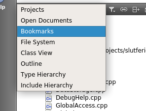numbered bookmarks in qt creator like delphi qt forum