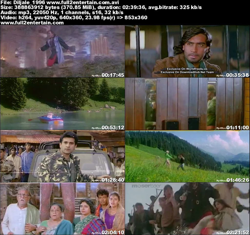 Diljale 1996 Full Movie Download Free in Dvdrip 480p