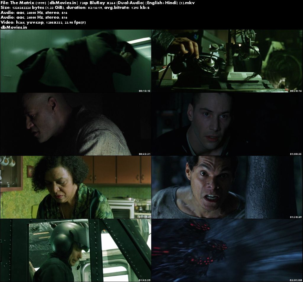 Screen Shots The Matrix (1999) Full Movie Download 720p HD Dual Audio Hindi