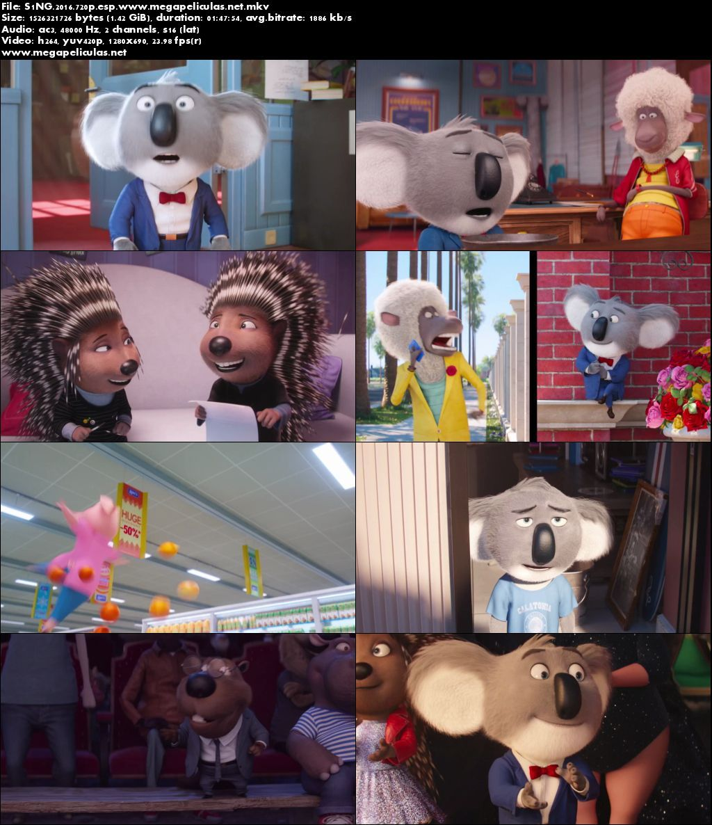 Capturas de Sing: ¡Ven y Canta! (2016) [BrRip 720p] [Latino]