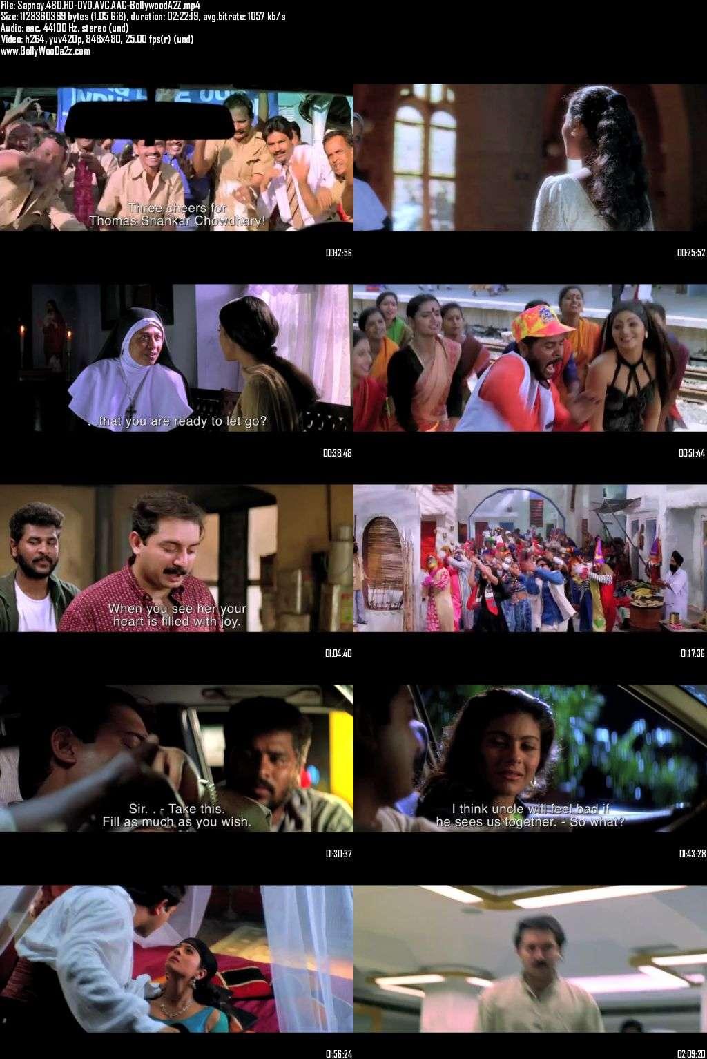 Sapnay (1997) 480p - HD-DVDRip - AVC - AAC-Bollywooda2z