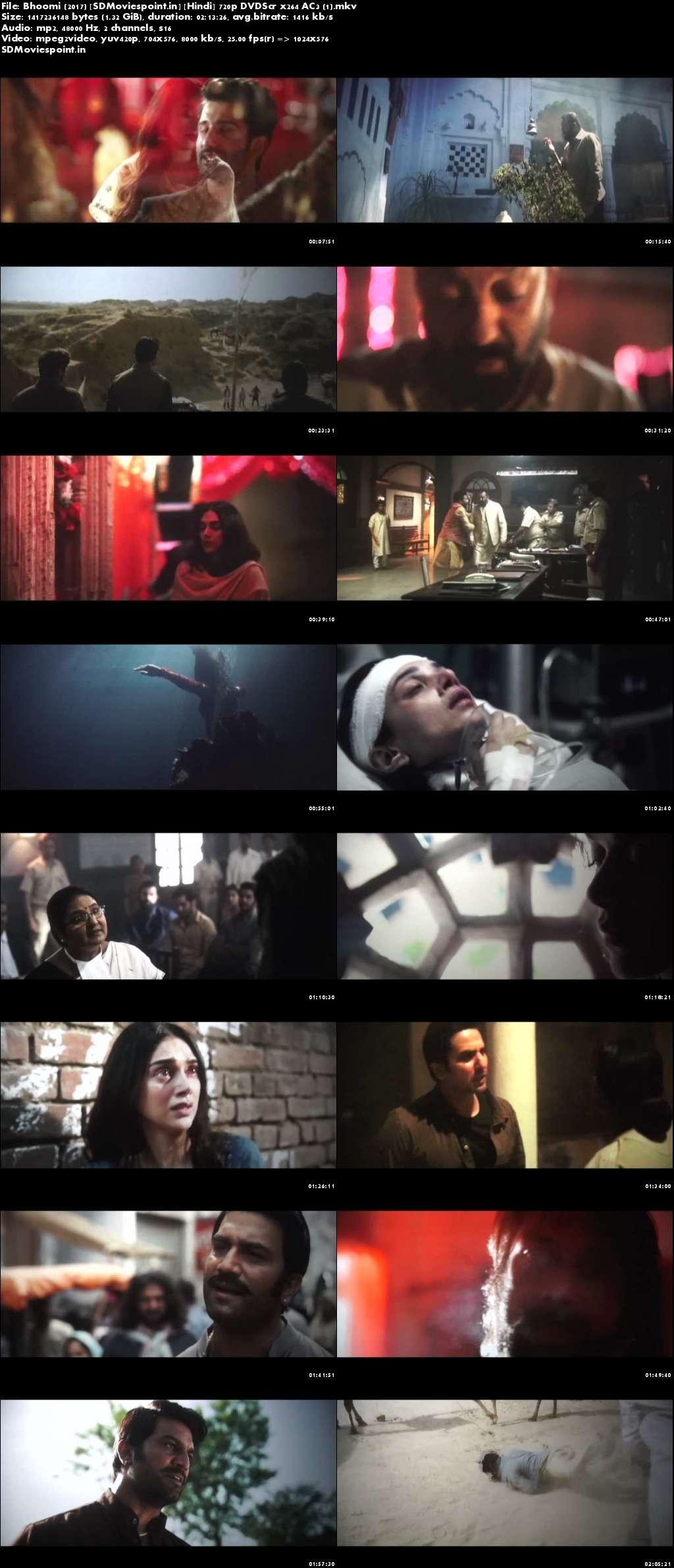 Screen Shots Bhoomi 2017 Free Full Movie Download HD 720p
