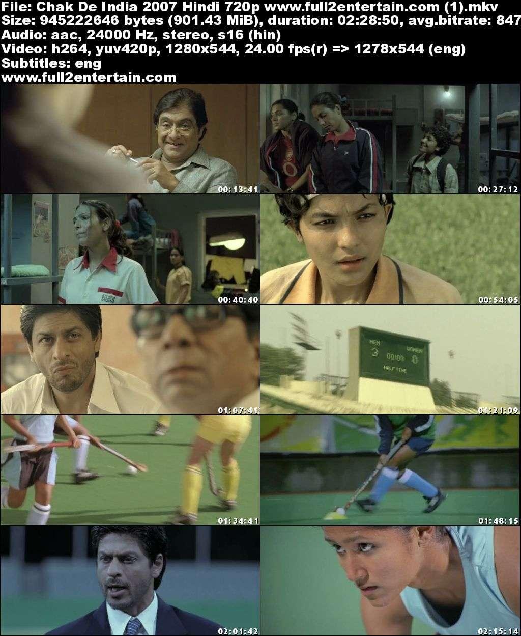 Download Chak De India 2007 Hindi 720p Bluray 900mb Mkv