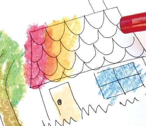 일본에서 발매되는 투명 크레파스