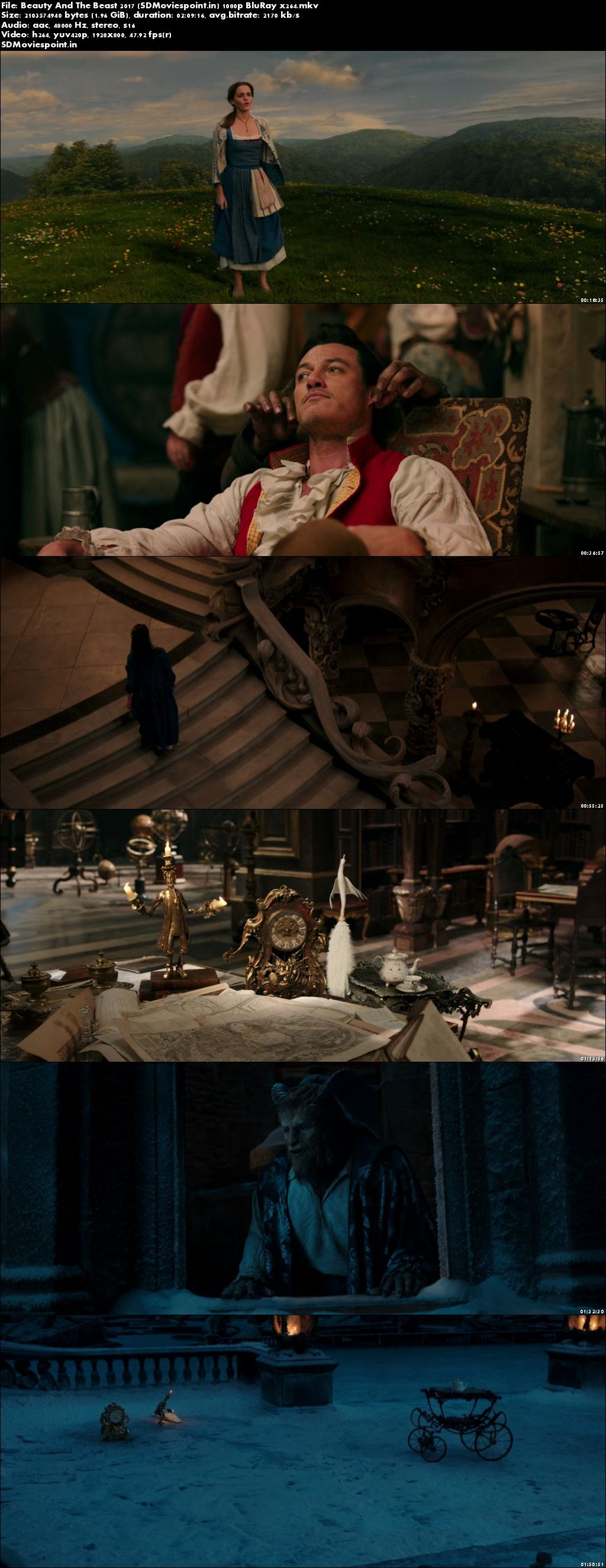 Screen Shots Beauty and the Beast 2017 Full HD Movie Download English