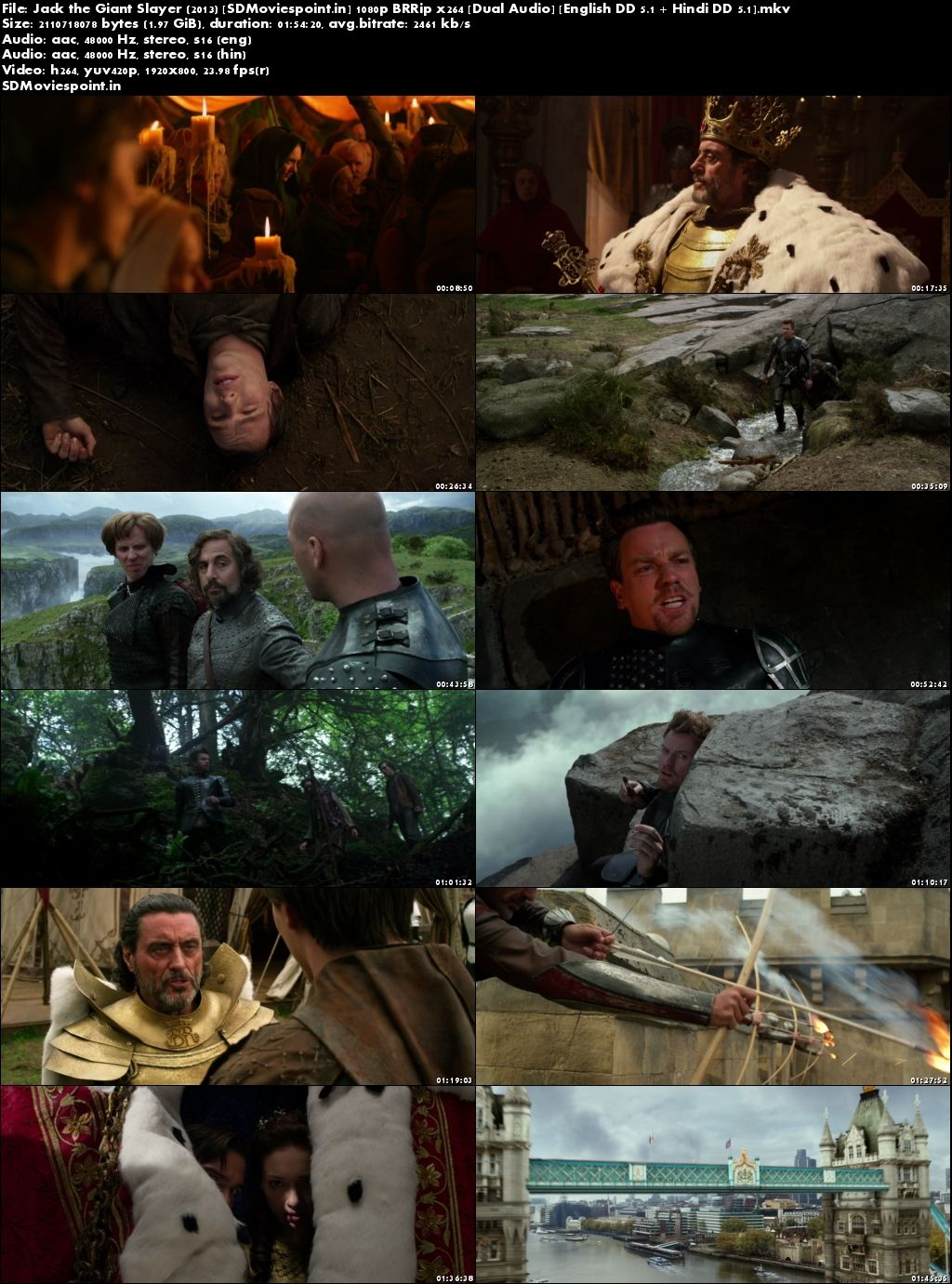 Screen Shots Jack The Giant Slayer (2013) Full HD Movie Download Dual Audio in Hindi 1080p