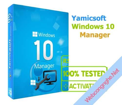 Yamicsoft Windows 10 Manager - Tối ưu hóa Windows 10