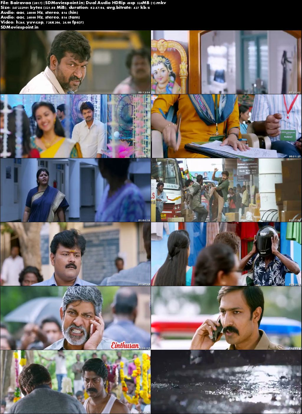 Screen Shots Bairavaa 2017 Full Movie Download in Hindi Dubbed Free 720p