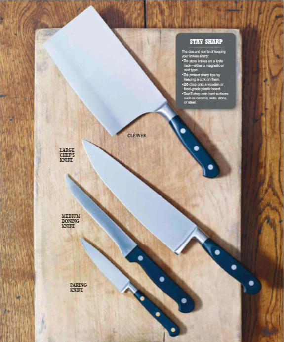 type of knifes