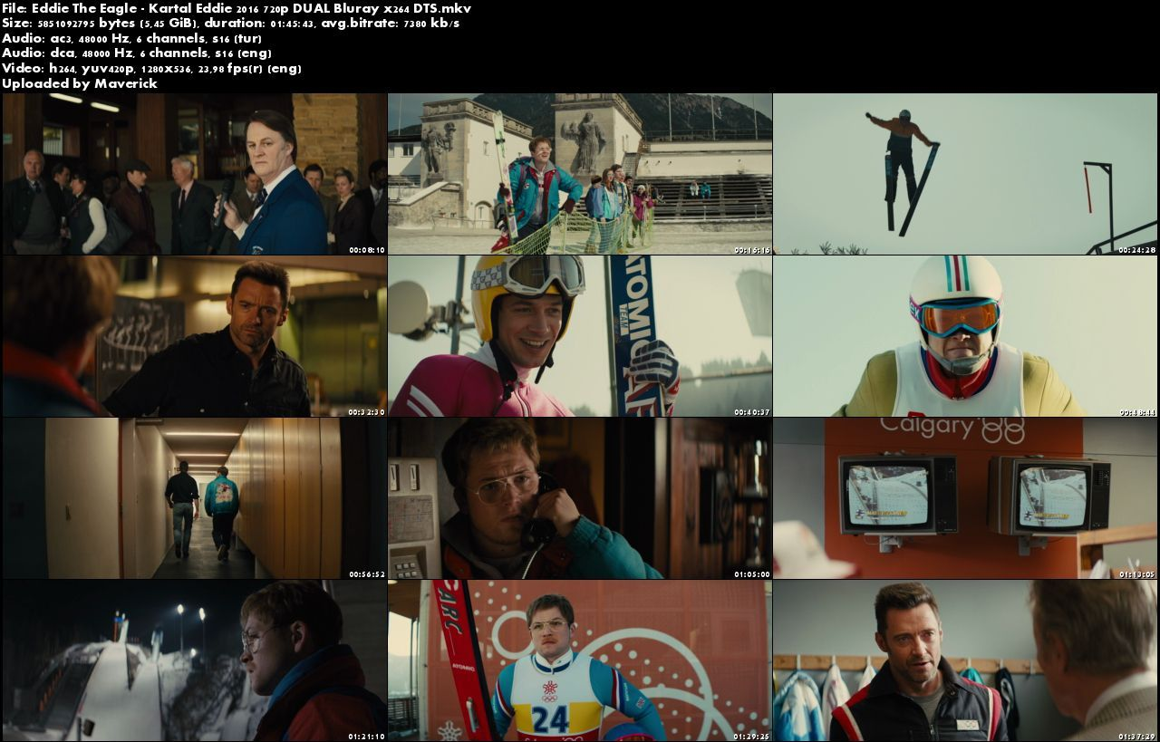 Kartal Eddie - 2016 BluRay (720p - 1080p) DuaL MKV indir