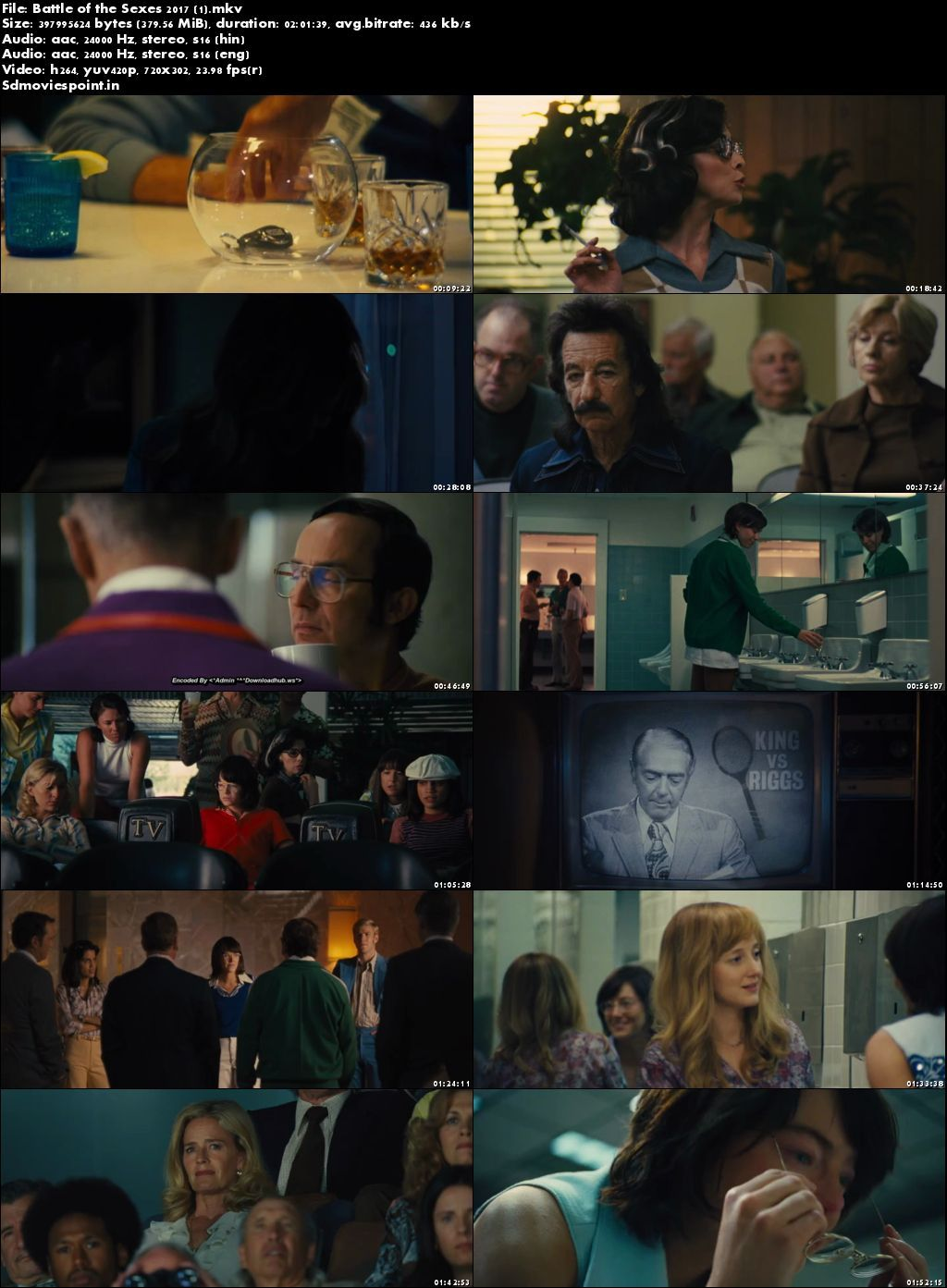 Screen Shots Battle of the Sexes 2017 300MB Movie Download Dual Audio HD Free