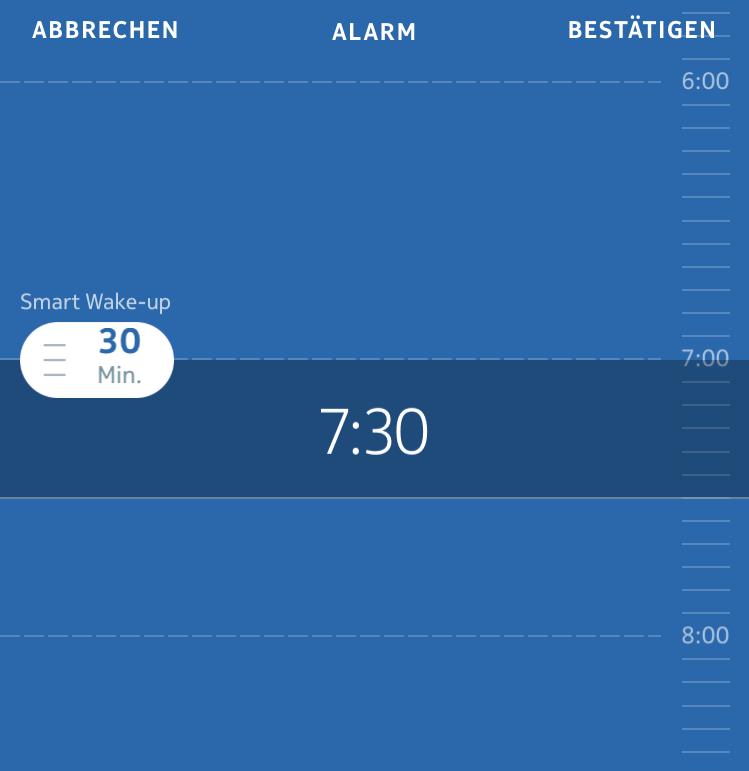 Nokia Health Mate App: Weckzeit einstellen
