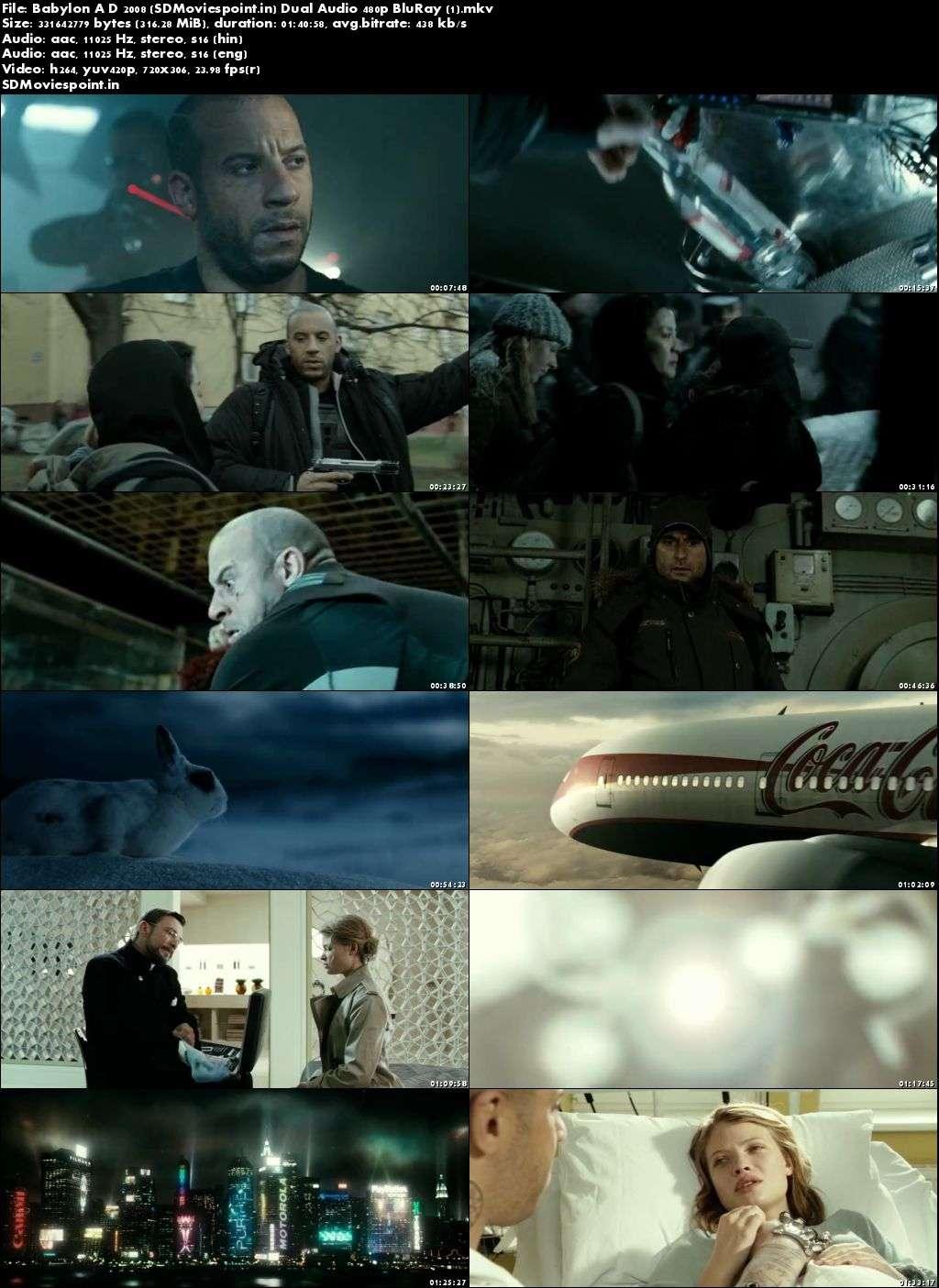 Screen Shots Babylon A D 2008 Full Hindi Movie Download Dual Audio Free 300MB