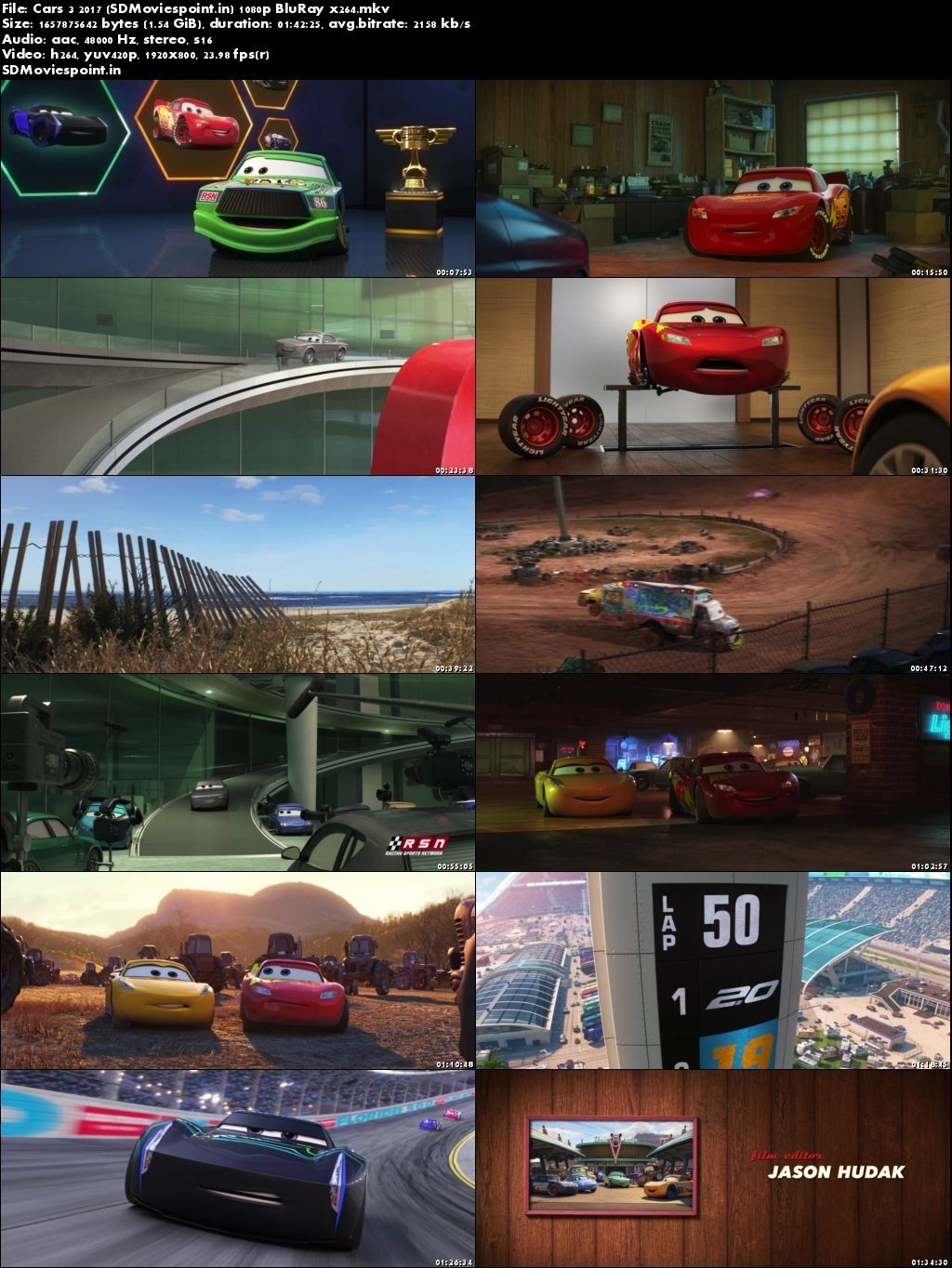 Screen Shots Cars 3 2017 Full HD Movie Download English Free