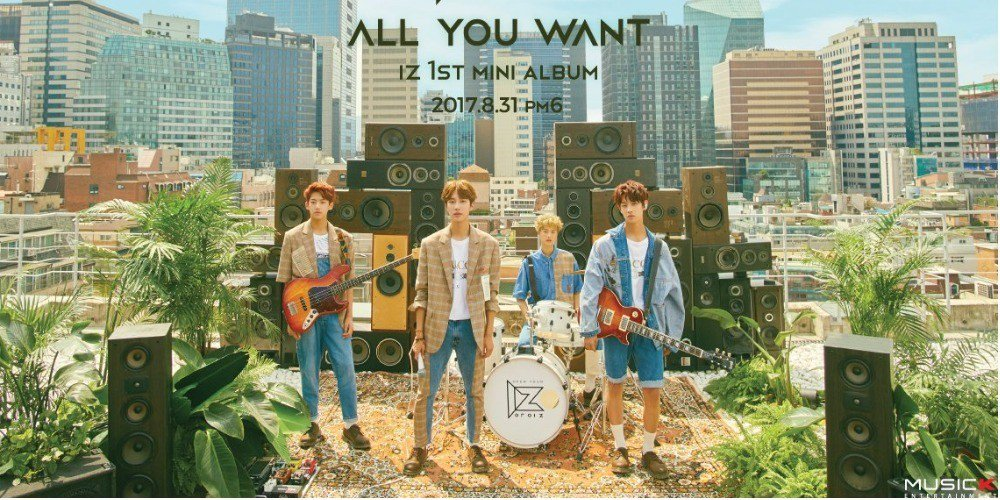 New high-teen idol band IZ tease for their debut with 1st mini album 'All You Want'
