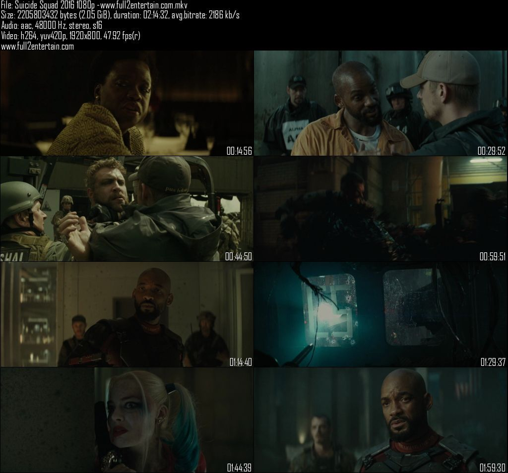 Suicide Squad 2016 Full Movie Download Free in Bluray 720p English