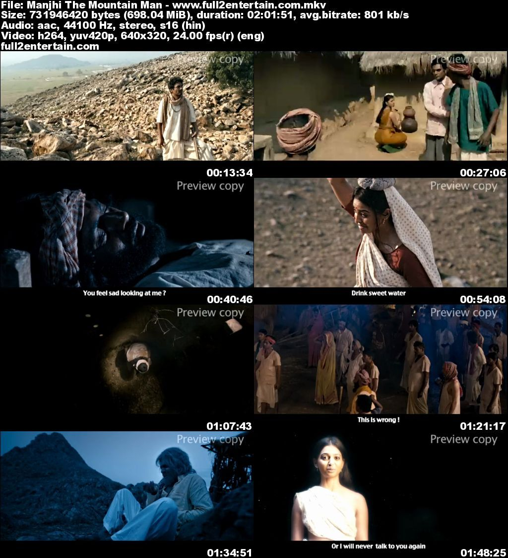 Manjhi: The Mountain Man 2015 Full Movie Free Download HD 800mb