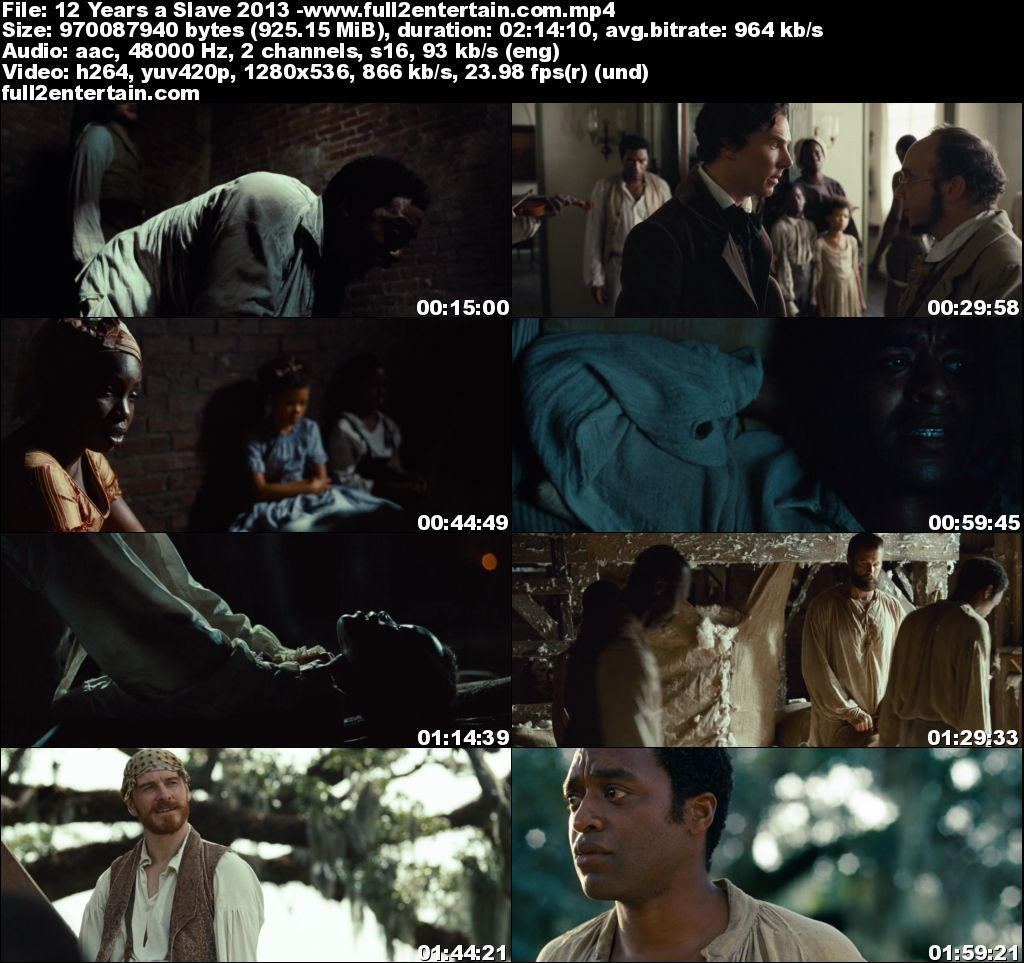 12 Years a Slave 2013 Full Movie Free Download HD 950mb