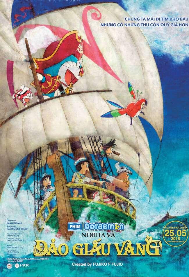 Phim Doreamon: Nobita Và Đảo Giấu Vàng - Doraemon the Movie: Nobita&#039s Treasure Island (2018) (2018)