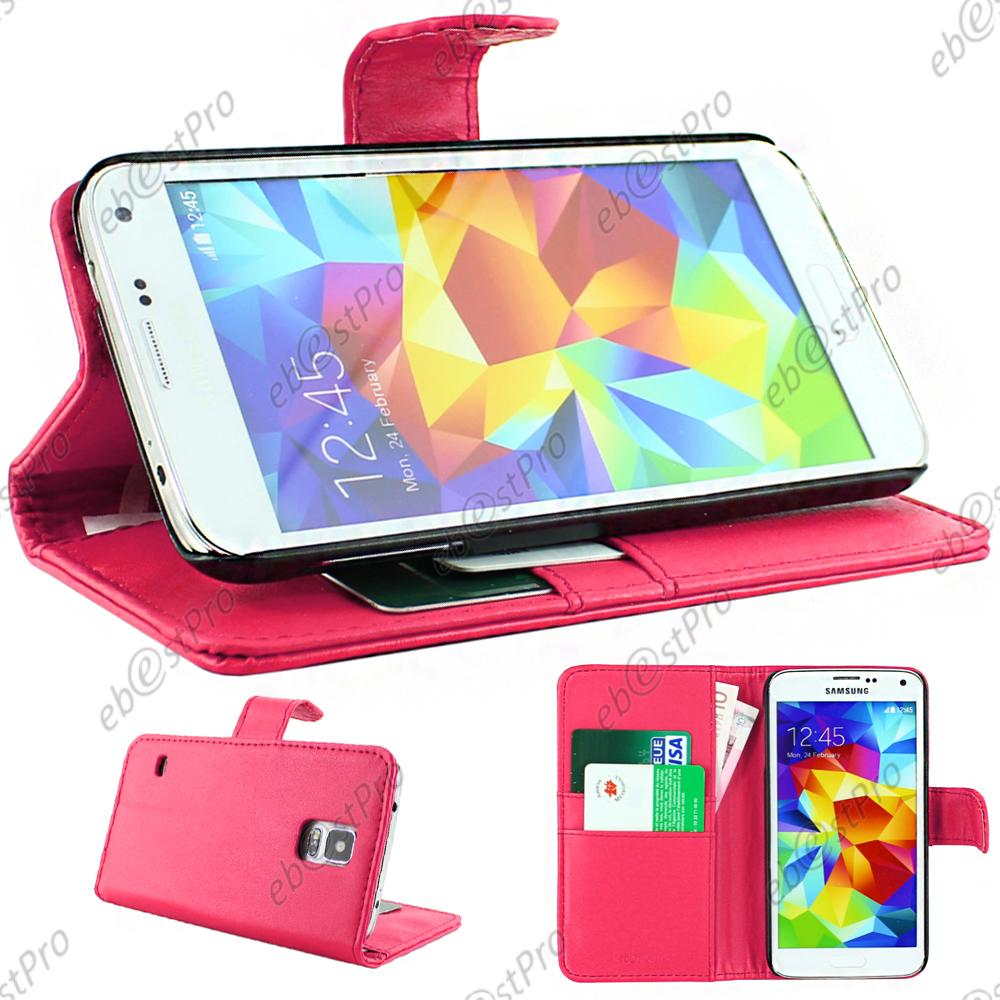 Housse etui coque portefeuille simili cuir samsung galaxy for Housse samsung s5
