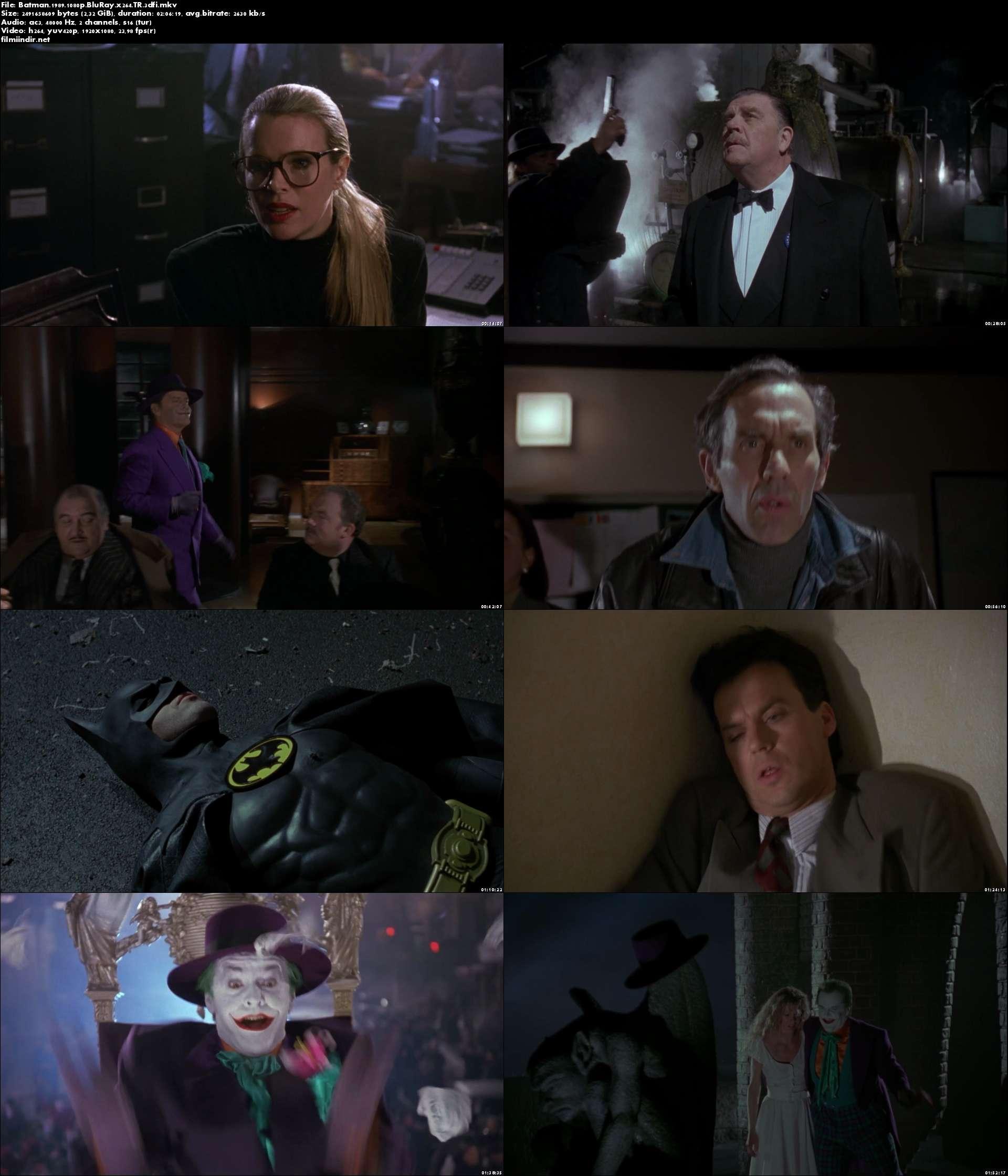 Batman (1989) türkçe dublaj film indir