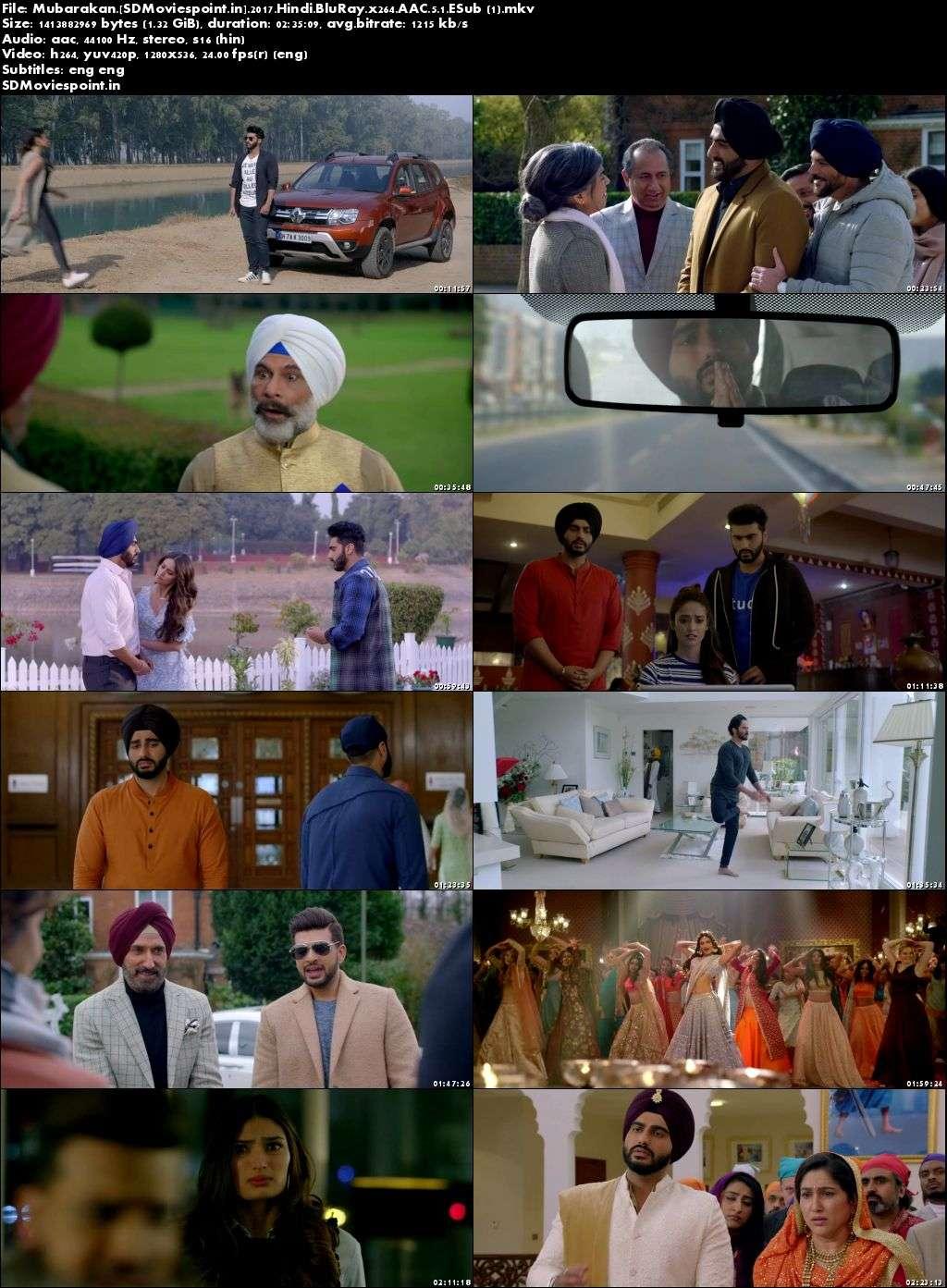 Screen Shots Mubarakan (2017) Full HD Movie Download 720p