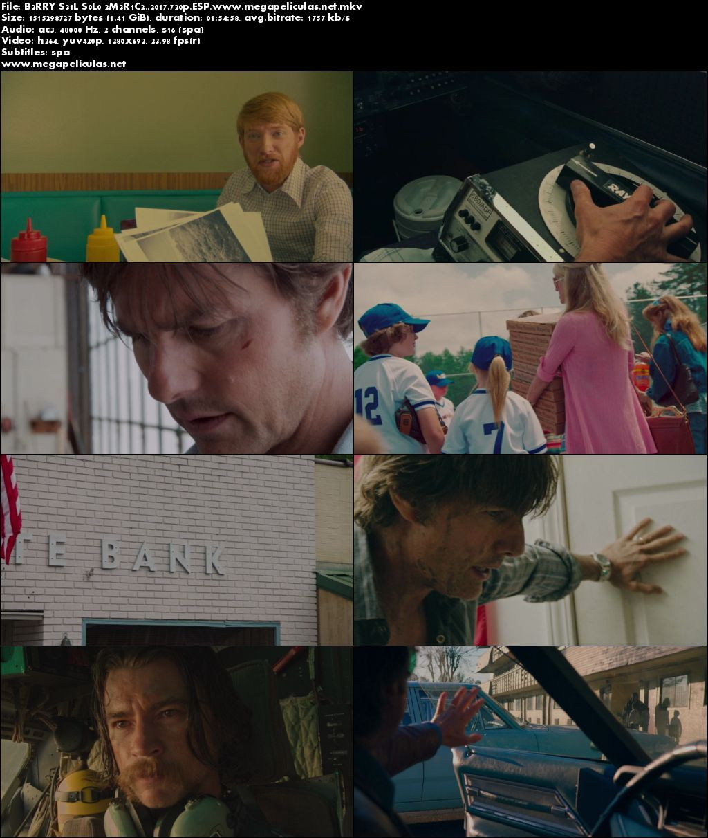 Capturas de Barry Seal Solo En America (2017) [BrRip 720p][Latino]