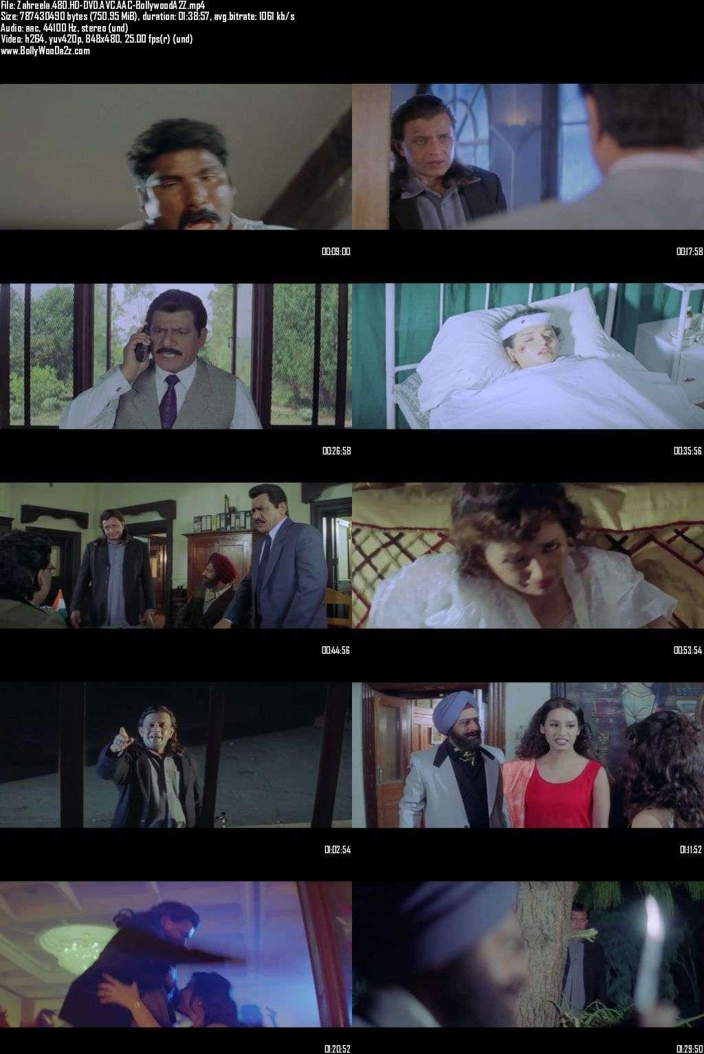 Zahreela (2001) 480p - HD-DVDRip - AVC - AAC-Bollywooda2z