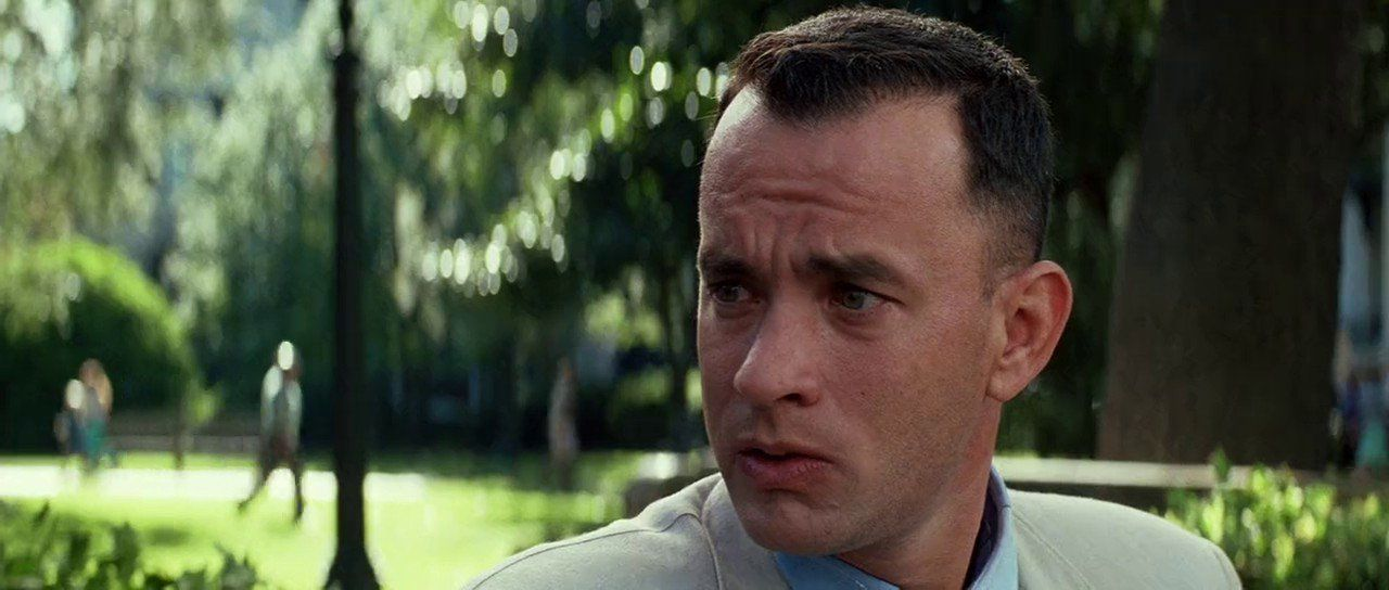 forrest gump movie review Forrest gump (1994)  (out of 4) forrest gump (tom hanks), a slow but simple man from alabama takes us through decades of his life, which includes various historical settings but all the while his heart is on jenny (robin wright penn), a childhood friend.