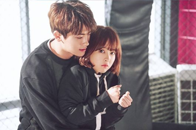 "Park Hyung Sik Surprises Park Bo Young With Adorable Back Hug In Stills For ""Strong Woman Do Bong Soon"""