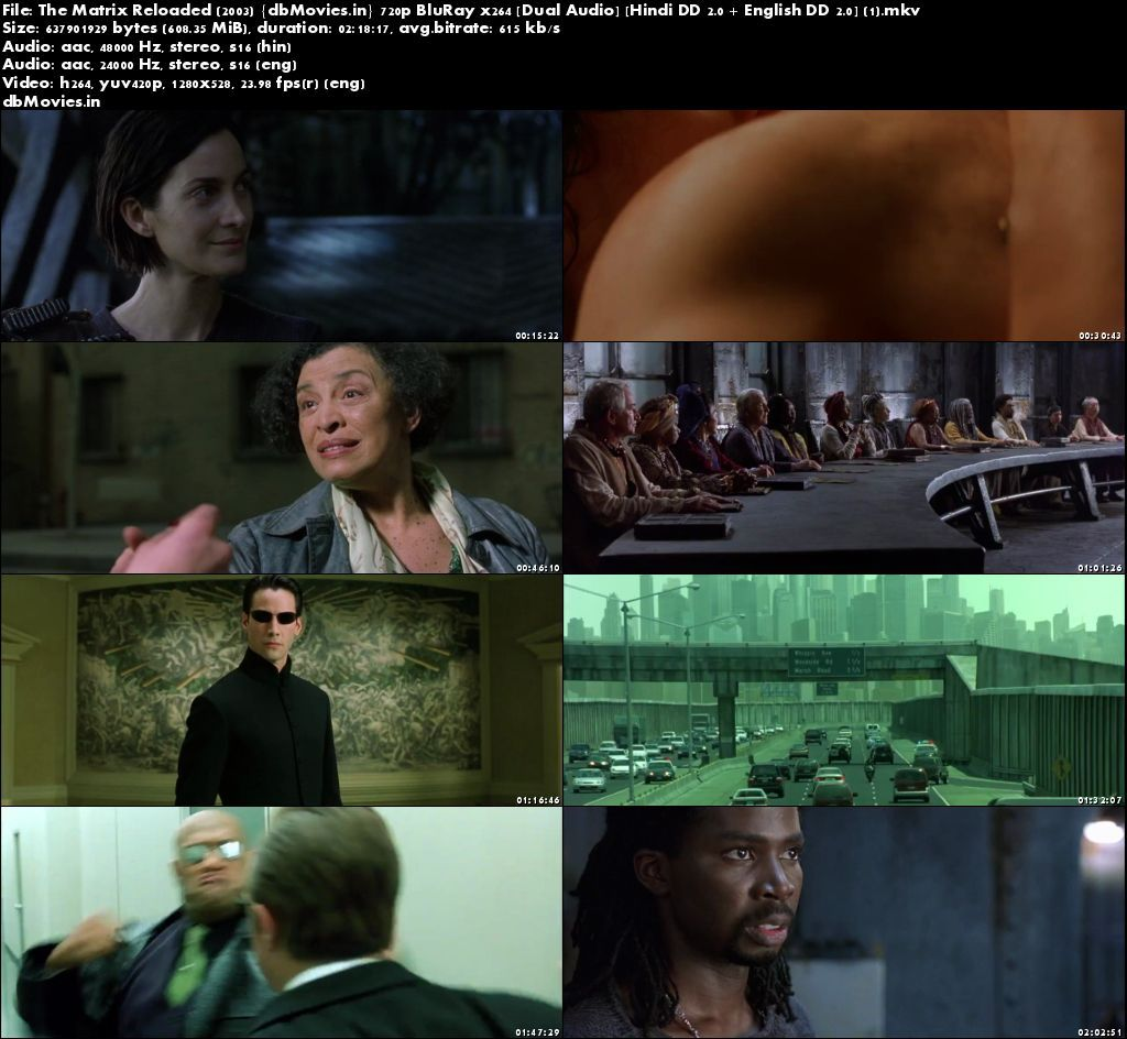 Screen Shots Matrix Reloaded 2003 Full Movie Download 720p Dual Audio Hindi
