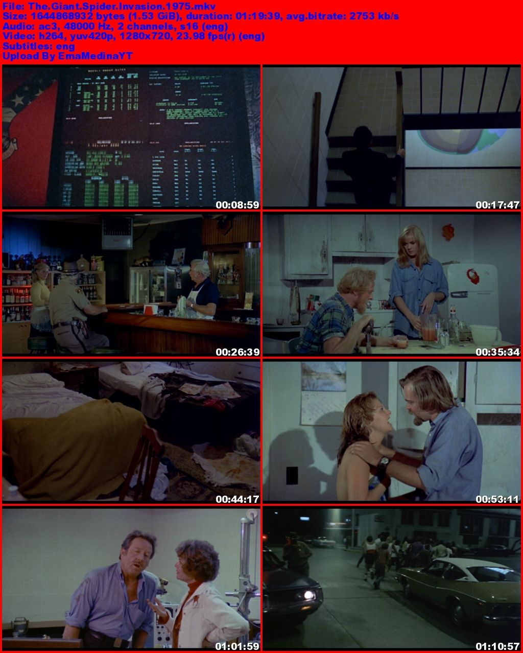 The Giant Spider Invasion [1975] [Ingles] [720p] [BluRay Rip] [UB+]