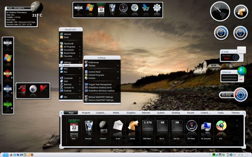 Winstep Xtreme - Thay đổi giao diện Windows cực đẹp