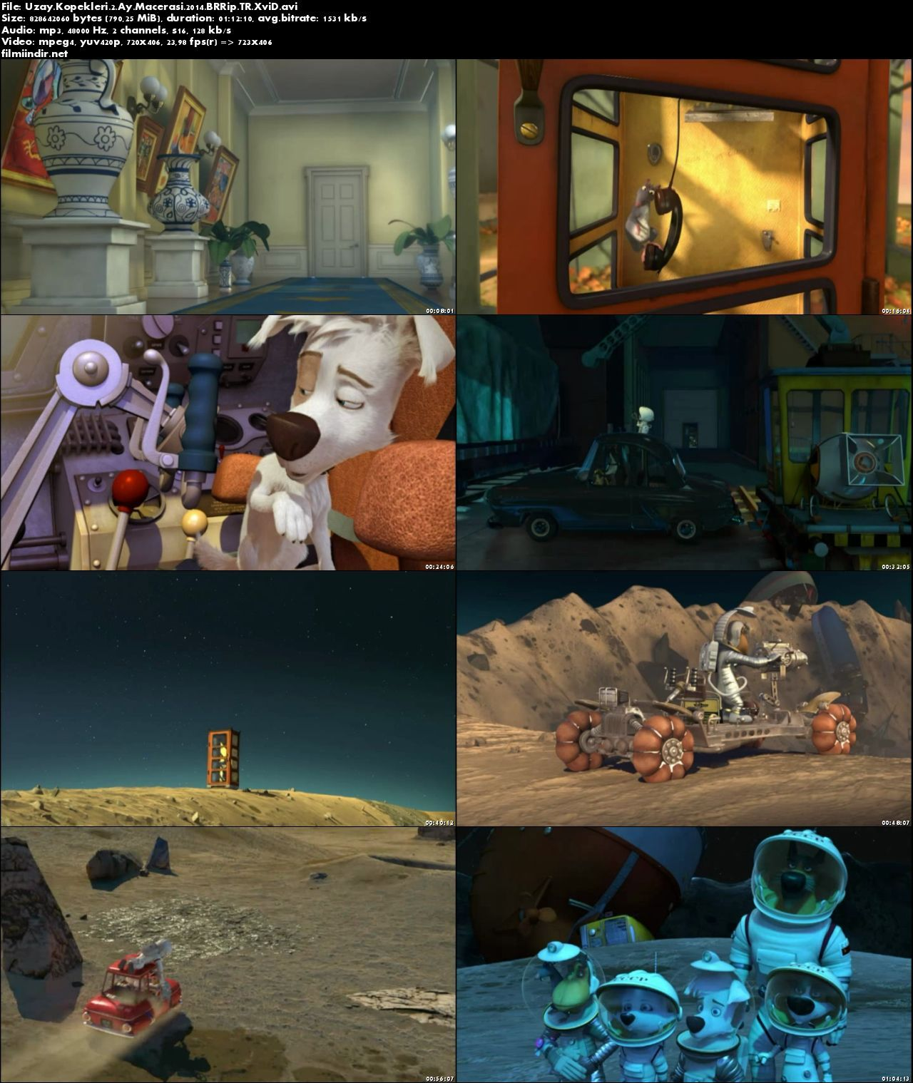 Uzay Köpekleri 2: Ay Macerası (2014) türkçe dublaj film indir