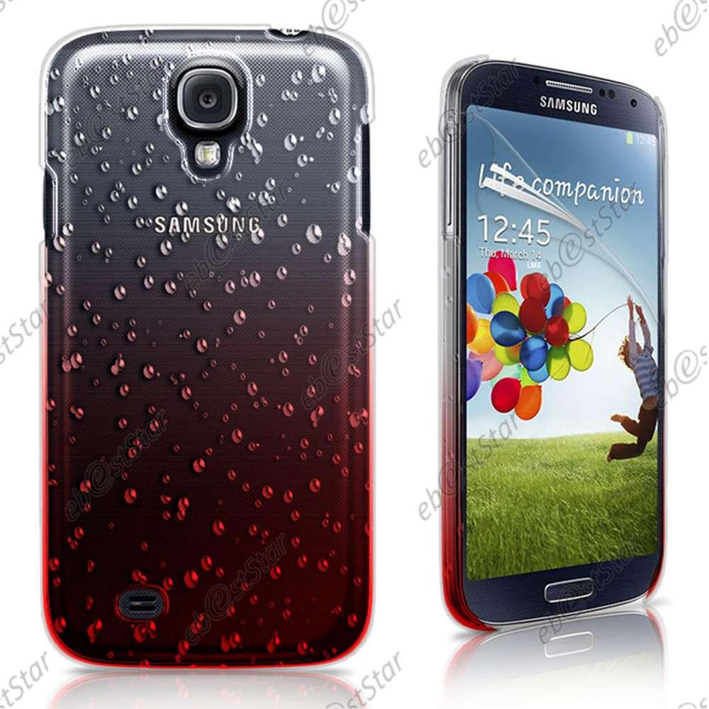 Housse-Etui-Coque-Rigide-Ultra-Fin-Motif-Gouttelettes-Samsung-Galaxy-S4-i9500