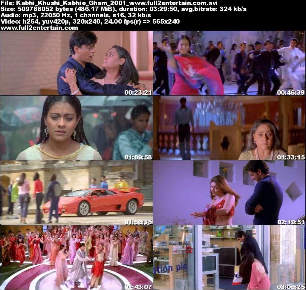 Kabhi Khushi Kabhie Gham 2001 Full Movie Download Free in Dvdrip 480p