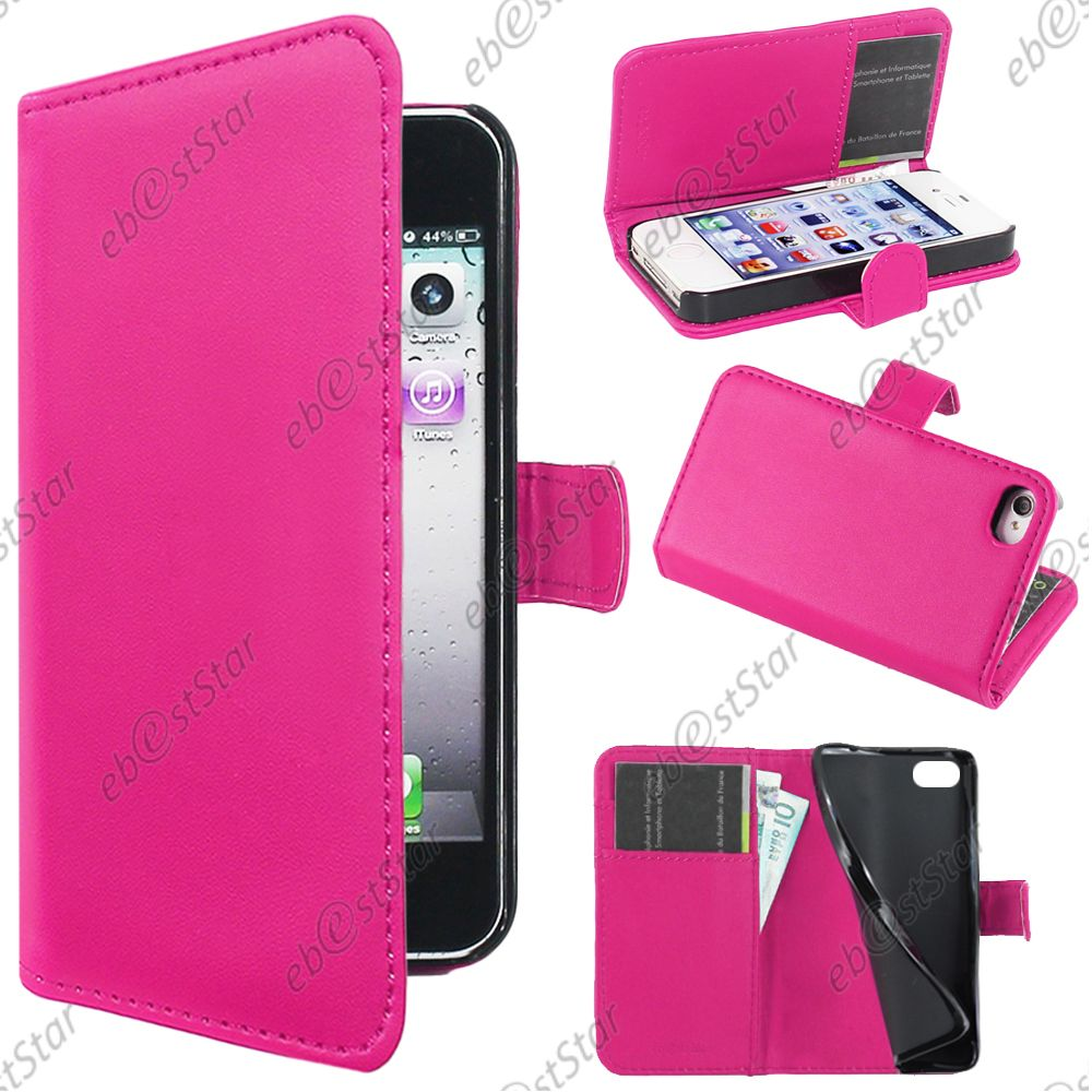 Housse-Etui-Coque-Portefeuille-Simili-Cuir-Apple-iPhone-4S-4