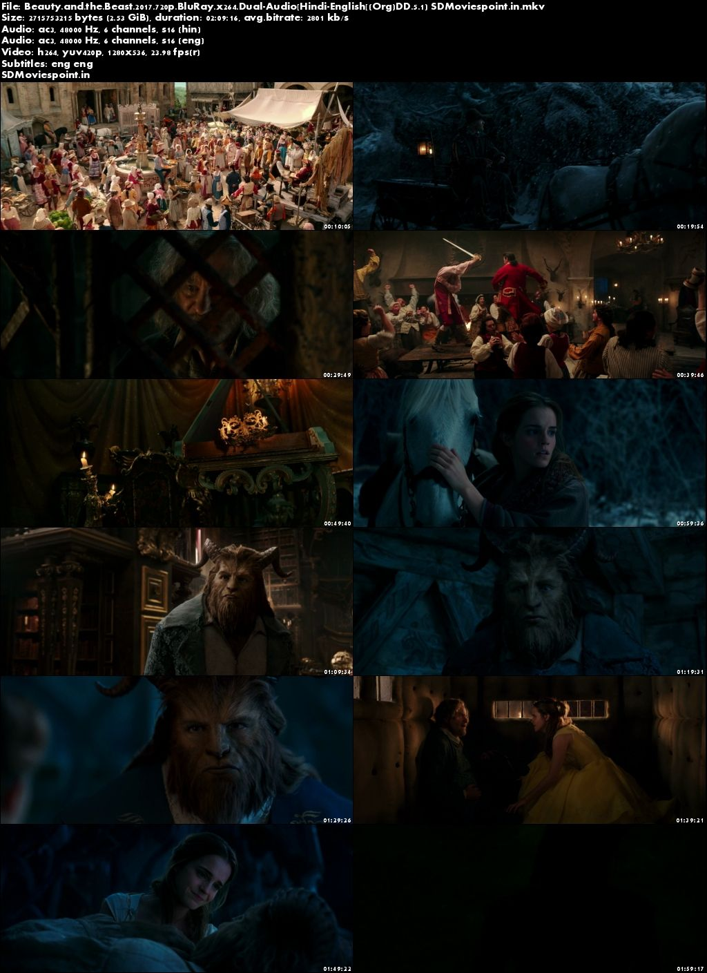Screen Shot Beauty And The Beast 2017 Full Movie In Hindi Dubbed Download