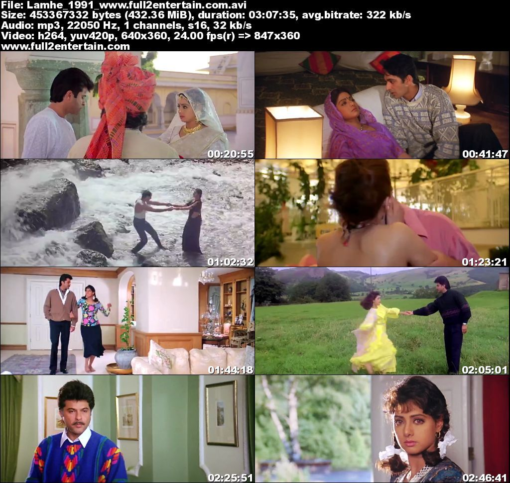 Lamhe 1991 Full Movie Download Free in Dvdrip 480p