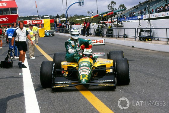 GP de Portugal de 1992: o inglês Johnny Herbert e o finlandês Mika Häkkinen