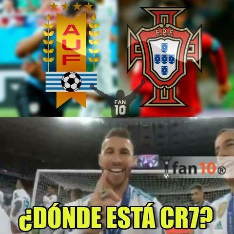 Memes de la derrota de Portugal vs Uruguay